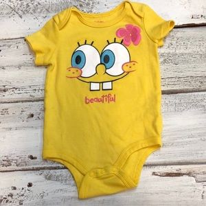 SpongeBob Squarepants Costumes - Sponge Bob Square Pants Baby Girl Onesie